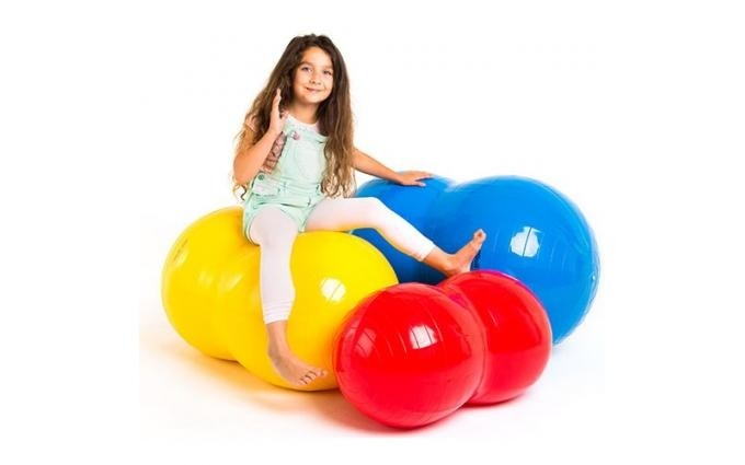 PELOTA INFLABLE SADDLE ROLL EN FORMA DE CACAHUATE
